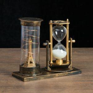 """Часы песочные """"Достопримечательности Франции"""", 15.5х6.5х16 см, микс 4154488"""