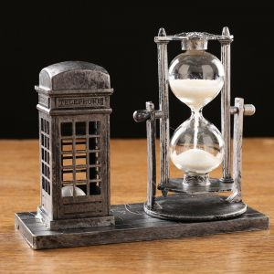 """Часы песочные """"Красная будка"""", с подсветкой, 15.5х6.5х12.5 см   4412108"""