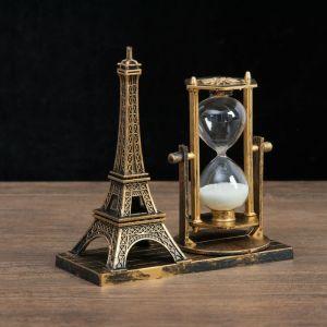 "Часы песочные ""Эйфелева башня"", 15.5х6.5.х16 см, микс 4154486"