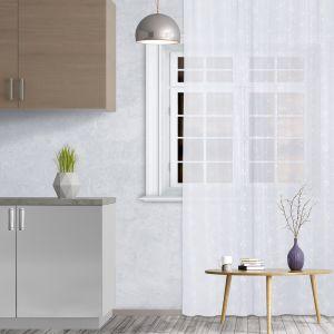 Штора кухонная арт.Т453 145х250 см, цвет белый, пэ 100%   4021215