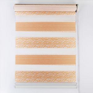 Штора рулонная «День-ночь», паутинка, 50?180 см, цвет золотистый
