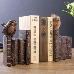 "Держатели для книг ""Птички на книгах"" набор 2 шт 23х21,5х11 см   3744958"