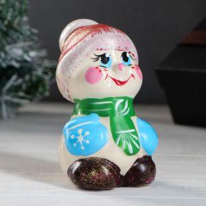 "Сувенир ""Снеговик"" 12 см, керамика"
