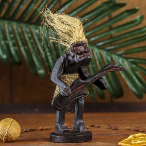 """Сувенир дерево """"Абориген-гитарист"""" 16х10х8 см 2027890"""