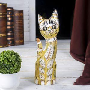 """Сувенир дерево """"Салатовая кошка"""" 4,5х9х30 см   4165561"""