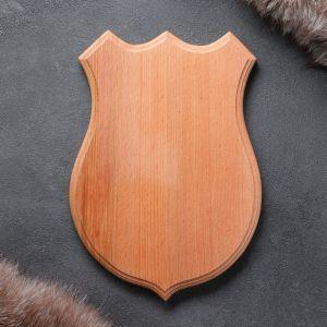 Медальон для охотничьих трофеев «Волк», некрашеная, 19х26 см, массив бука