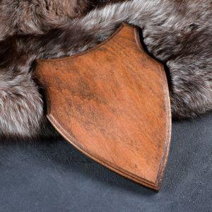 Медальон для охотничьих трофеев «Щит», крашеная, 28х19 см, массив бука