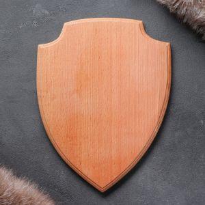 Медальон для охотничьих трофеев «Щит», некрашеная, 25х32 см, массив бука