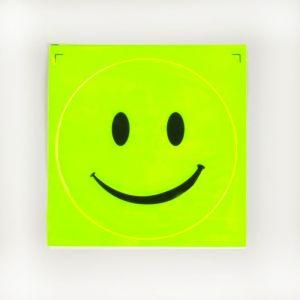 Светоотражающая наклейка «Смайл», d = 11 см, цвет жёлтый