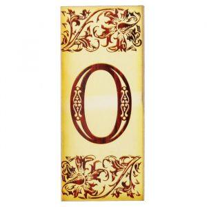 """Цифра дверная из дерева """"0"""", под выжигание, 3*7 см   2190137"""
