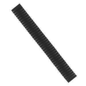Ремешок для часов 17 мм, металл, протектор звенья объёмные, чёрный хром, 15.5 см 1268535