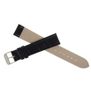 Ремешок для часов, 18 мм, экокожа, фактура рептилия, черный, 19см 1268490