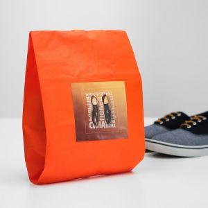 """Мешок для обуви """"Больших побед""""  Оранжевый  4452161"""