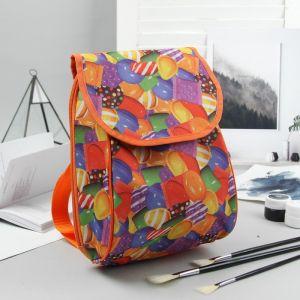 Рюкзак детский, отдел на клапане, цвет оранжевый