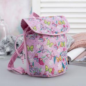 Рюкзак детский, отдел на шнурке, цвет розовый