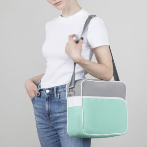 Сумка молодёжная, отдел на молнии, наружный карман, регулируемый ремень, цвет мятный