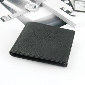 Портмоне мужское, 2 отдела, для карт, цвет чёрный