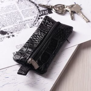 Ключница, отдел на молнии, цвет чёрный