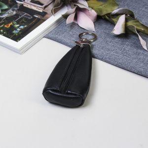 Ключница на молнии, кольцо, цвет чёрный
