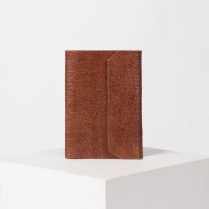 Обложка для документов, кайман, цвет светло-коричневый