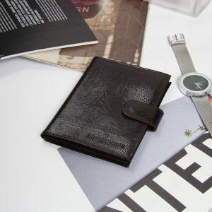 Обложка для автодокументов, отдел для паспорта, цвет коричневый