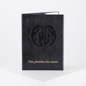 Папка для документов, 1 комплект, цвет чёрный