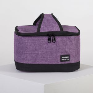 Сумка-термо, отдел на молнии, цвет фиолетовый