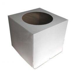 Короб картонный для тортов  320*320*350мм С ОКНОМ