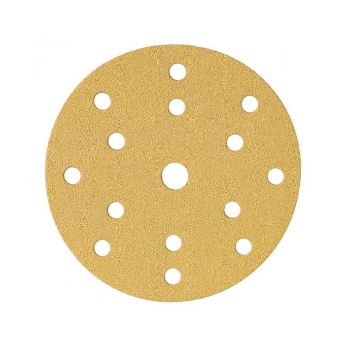 Schtaer Абразивные круги на липучке диаметр 150 мм., 15 отверстий, упаковка 10 шт., градация зерна P280