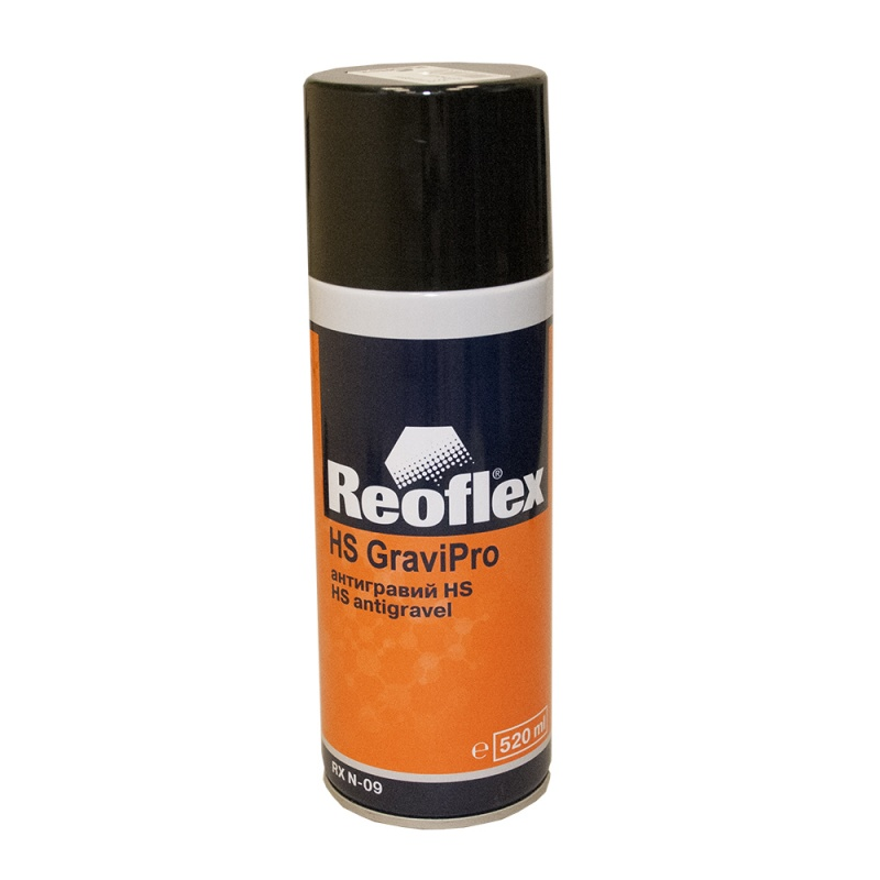 REOFLEX Антигравий HS, черный, аэрозоль, объем 520мл.