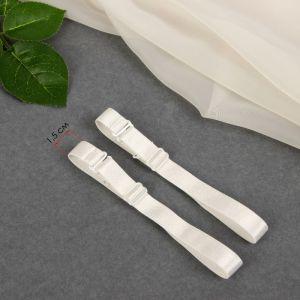 Бретельки текстильные, 1,5 см, пара, цвет молочный