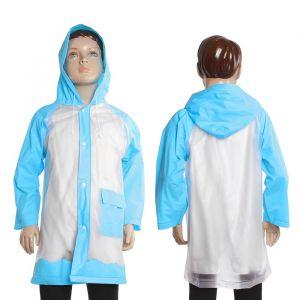 Дождевик детский «Гуляем под дождём», голубой, L