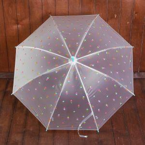 Зонт детский полуавтоматический «Мороженое», r=44см, цвет мятный