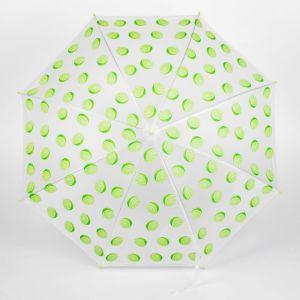 Зонт детский полуавтоматический «Лаймы» r=44,5см, цвет салатовый