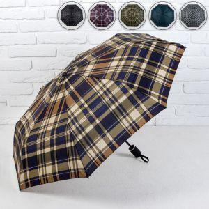 Зонт автоматический «Сдержанность», 3 сложения, 8 спиц, R = 48,5 см, цвет МИКС