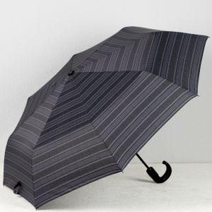 Зонт автоматический, 3 сложения, 8 спиц, R = 51, цвет тёмно-серый