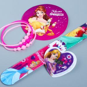 "Часы наручные с наклейками + браслеты ""Милая принцесса"", Принцессы"