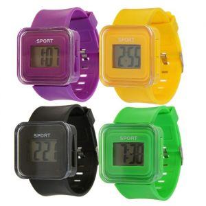 Часы наручные электронные, ремешок силикон, циферблат квадратный 1.5х2.5 см  микс 2319274