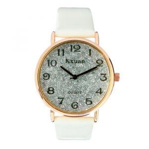 """Часы наручные женские """"KX -  гламур"""" d=3.5 см, белые   4407095"""