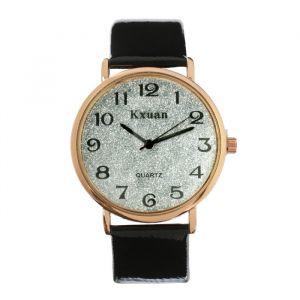 """Часы наручные женские """"KX -  гламур"""" d=3.5 см, черные   4407096"""
