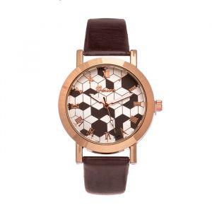 """Часы наручные женские """"Omsan-1"""" d=3.3 см, коричневый  микс   4429148"""