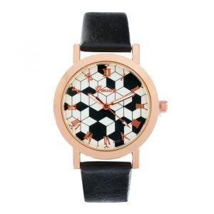 """Часы наручные женские """"Omsan-3"""" d=3.3 см, черные   4429149"""