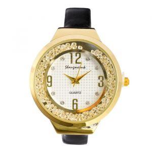 """Часы наручные женские """"Shengmeimk"""", ремешок из экокожи, черные   4407015"""