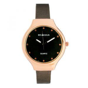 """Часы наручные женские """"Гатти"""", циферблат d=3.2 см, темный хром   4407059"""