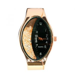 """Часы наручные женские """"Затмение"""", ремешок из экокожи, черные   4407013"""
