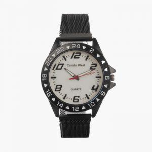 """Часы наручные """"Пальмира"""", кварцевые, l=23 см, d=4.5 см, циферблат белый, ремешок на магните   473157"""