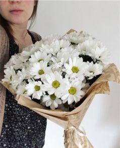Букет из белых хризантем Бакарди