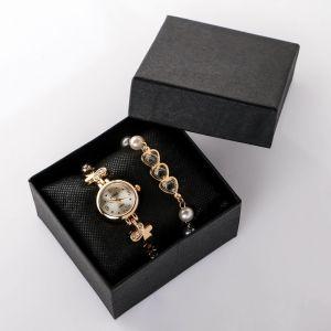 """Подарочный набор 2 в 1 """"Beike"""": наручные часы и браслет   4483220"""