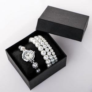 """Подарочный набор 2 в 1 """"Disu"""": наручные часы и браслет   4483215"""
