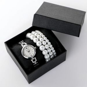 """Подарочный набор 2 в 1 """"Grealy"""": наручные часы и браслет   4483213"""